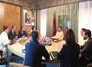 جلالة الملك يترأس بالقصر الملكي بالدار البيضاء جلسة عمل خصصت لبحث وضعية تقدم أشغال تنفيذ برامج تنمية الطاقات المتجددة