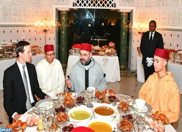 SM el Rey ofrece un Iftar en honor de Jared Kushner, consejero principal del presidente estadounidense