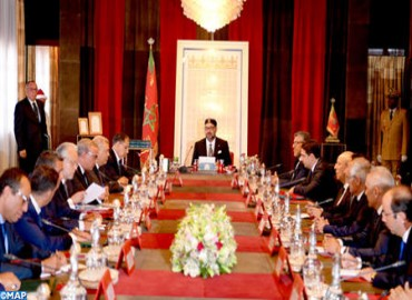 HM the king Chairs Council of Ministers