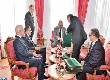 SM el Rey recibe al jefe del Gobierno, al ministro de Interior, al ministro de Economía y Finanzas y al primer presidente del Tribunal de Cuentas