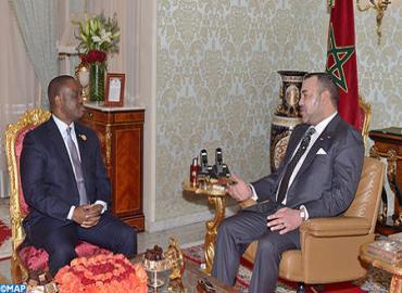 جلالة الملك يستقبل بأبيدجان رئيس الجمعية الوطنية لجمهورية الكوت ديفوار