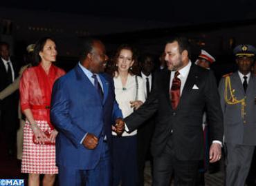 جلالة الملك يستقبل الرئيس الغابوني