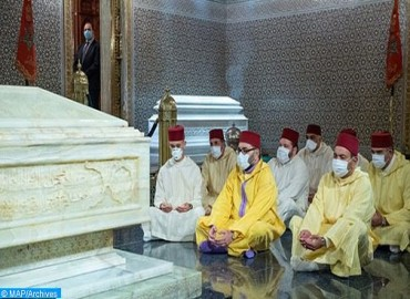 HM the King, Commander of the Faithful, Visits Grave of Late King Mohammed V
