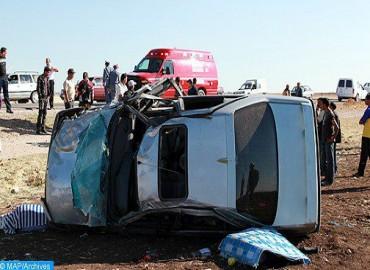 Accidents de la route: Baisse de 3,16% du nombre de personnes tuées entre novembre 2017 et octobre 2018