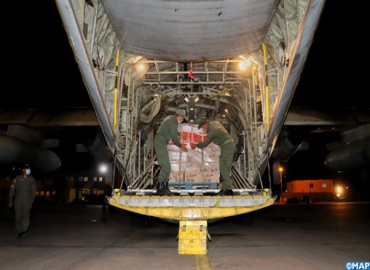 Départ d'avions acheminant des aides alimentaires au profit des forces armées et du peuple libanais