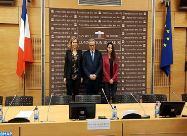 La réforme de la justice au Maroc au menu d'une rencontre de M. Mohamed Aujjar à l'Assemblée Nationale française