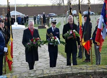M. Ben Abdelkader prend part à une cérémonie de mémoire et de recueillement en hommage aux soldats marocains tombés lors de la bataille de Gembloux-Chastre