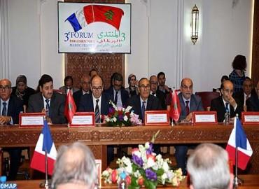 L'ouverture de la 3-ème édition du forum parlementaire Maroc-France