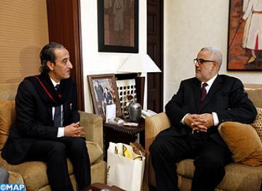 M. Benkirane s'entretient avec le ministre libyen de la Culture et de la Société civileM. Benkirane s'entretient avec le ministre libyen de la Culture et de la Société civile