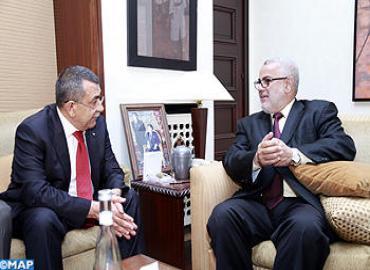 M. Benkirane s'entretient avec le ministre palestinien de l'Intérieur