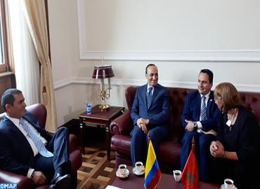 M. El Malki s'entretient à Bogotá avec les présidents des deux Chambres du Congrès colombien