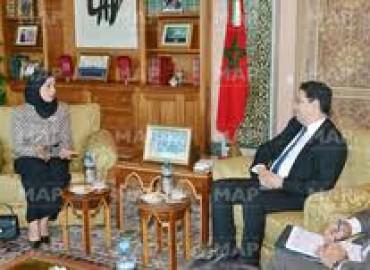 Bourita se entrevista en Rabat con la presidenta del Consejo de Representantes de Bahréin