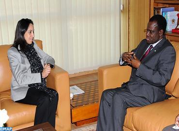 السيدة بوعيدة تتباحث مع رئيس المجموعة الاقتصادية لدول غرب إفريقيا
