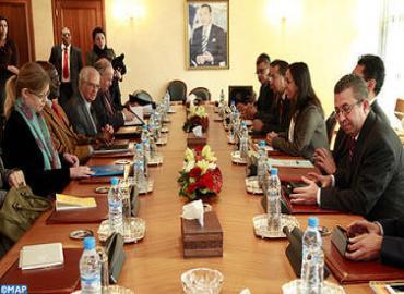 السيدة بوعيدة تستقبل رئيس مجموعة عمل الأمم المتحدة حول الاعتقال التعسفي