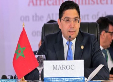 La embajadora de México presenta las copias figuradas de sus cartas credenciales a Bourita
