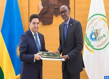 Bourita entrega un mensaje de SM el Rey Mohamed VI al presidente ruandés