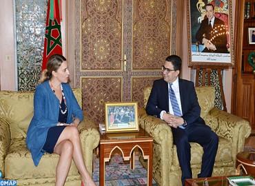 Le ministre des Affaires Etrangères s'entretient avec la vice-secrétaire d'État adjoint américain chargée des Affaires de l'Egypte et du Maghreb