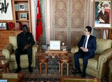 Bourita recibe a su homólogo gambiano, portador de un mensaje a SM el Rey