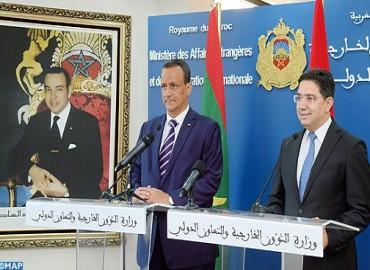 Le ministre des Affaires étrangères de la République islamique de Mauritanie en visite de travail au Maroc