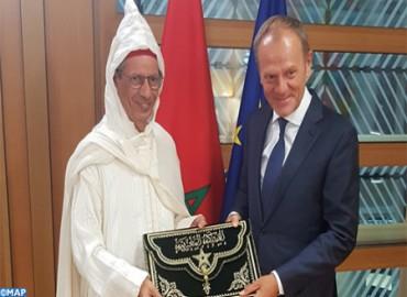 El embajador Ahmed Rahhou presenta sus cartas credenciales al presidente del Consejo Europeo