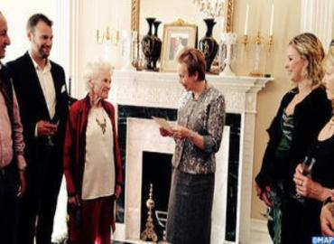 British Philanthropist Mme EVE Branson receives Royal Wissam