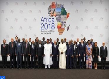 """M. Benchaâboune représente SM le Roi aux travaux du Forum """"Afrique 2018"""" à Charm El-Cheikh"""