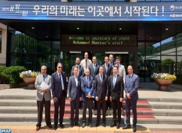 M. Rherras s'informe du modèle de formation de l'Académie coréenne des jeunes entreprises à Ansan