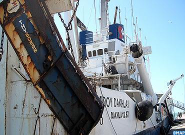Collision entre un navire de pêche et un sardinier à Dakhla