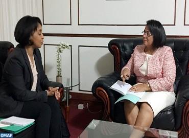 La secrétaire d'Etat auprès du ministre des Affaires étrangères et de la Coopération internationale effectue une visite de travail à Madagascar