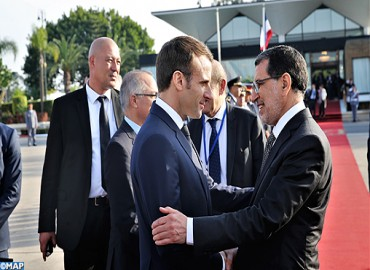 French Pres. Leaves Morocco after Working Visit on Occasion of Inauguration of Tangier-Casablanca High-speed Line