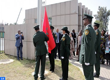 Moroccan Flag Hoisted at AU Headquarters in Addis Ababa: