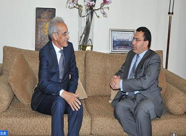 وزير الإتصال يتباحث مع المدير العام لاتحاد الإذاعات الإسلامية