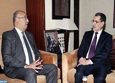 رئيس الحكومة يبحث مع ممثل (اليونيسكو) بالمغرب والجزائر وموريتانيا وتونس مختلف أوجه التعاون الثنائي المثمر