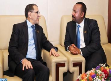 Entretiens à Addis-Abeba entre M. El Otmani et le Premier ministre éthiopien