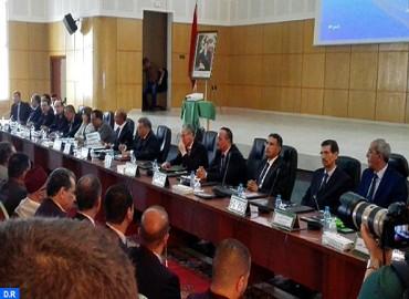 Une délégation de haut niveau visite Al Hoceima dans le cadre du suivi des chantiers de développement