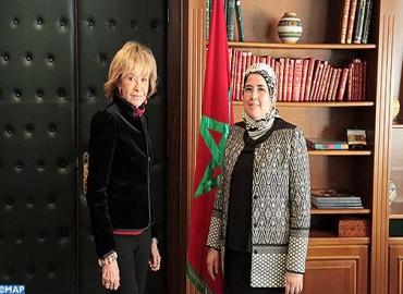 Entretiens à Rabat entre Mme El Moussali et la conseillère permanente de l'Etat espagnol