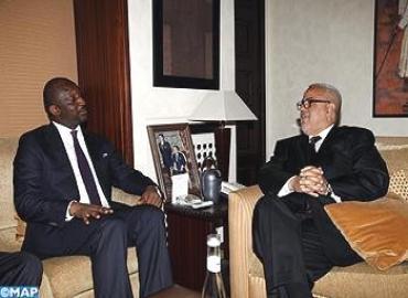 رئيس الحكومة عبد الإله بن كيران في لقاء مع ثييمان هوبير كوليبالي وزير الشؤون الخارجية والتعاون الدولي المالي