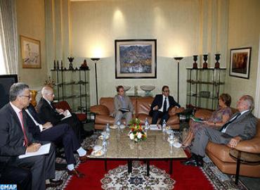 M. Ghellab s'entretient avec le président du groupe d'amitié France-Maroc au Sénat français