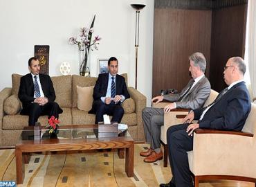 السيد الخلفي يتباحث مع سفير مملكة إسبانيا بالرباط وممثل منظمة اليونسكو