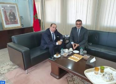 السيد عبيابة يستقبل رئيس اللجنة الوطنية الأولمبية المغربية