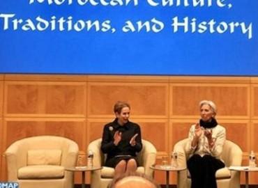 Lalla Joumala Alaoui y Christine Lagarde presiden en Washington una ceremonia que celebra a Marruecos y su historia