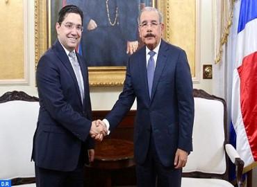 Le président de la République dominicaine reçoit en audience M. Nasser Bourita, porteur d'un message verbal de SM le Roi