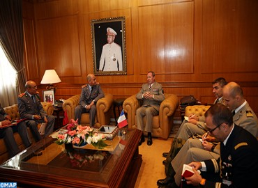 Upon High Instructions of HM the King, Major General, Inspector General of FAR Receives Chief of Staff of the French Army