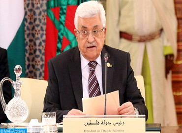 Le président palestinien salue les positions de SM le Roi en soutien aux droits palestiniens légitimes