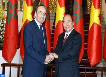الوزير الأول الفيتنامي  : انفتاح الفيتنام والمغرب على بعضهما البعض سيضاعف معدل مبادلاتهما التجارية