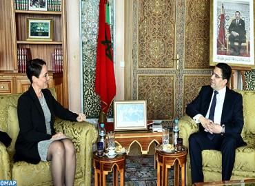 La ministra de Asuntos Exteriores y Comercio Exterior de Jamaica, Kamina Johnson Smith de visita oficial en Marruecos