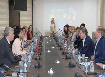 السيدة بوستة تتباحث مع وفد من مركز تفكير أمريكي حول سبل تعزيز العلاقات بين المغرب والولايات المتحدة