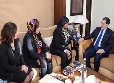 السيد العثماني يستقبل رئيسة وعضوات المكتب الجديد لجمعية النساء رئيسات المقاولات بالمغرب