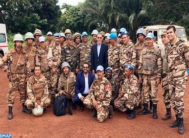 L'Ambassadeur Hilale rend visite au contingent marocain en République Centrafricaine