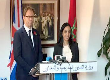 Le Secrétaire d'Etat britannique chargé de la région MENA  en visite de travail au Maroc